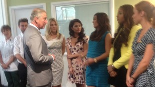 Prince Charles with The Saturdays.
