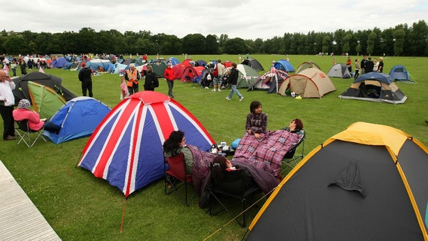 Image result for wimbledon camper queue