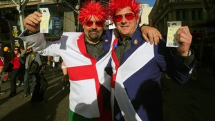England and Scotland fans have both made their way to Brisbane to support the Lions