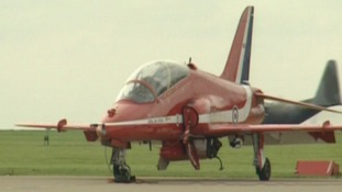 Red Arrows at RAF Scampton base