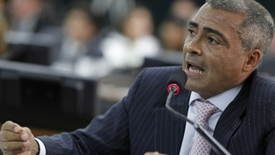 Former Brazilian footballer-turned-politician Romario.