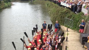Crowds at Tonbridge Dragon Boat Race