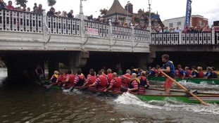 Tonbridge's first dragon boat race