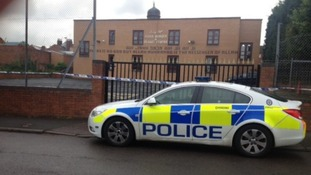 Bomb disposal experts were called to the mosque following the discovery of the suspicious item