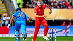 England's Stuart Broad during the ICC Champions Trophy Final at Edgbaston, Birmingham.
