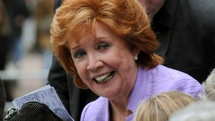 Cilla Black arrives for the Michael Winner memorial service at the National Police Memorial in London,