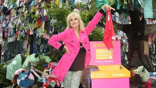 Joanna Lumley backs 'shwopping' campaign