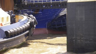 Damage to the hull as ferry strikes Quay in Harwich