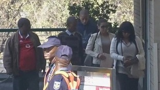 Relatives arrive to visit Nelson Mandela in hospital
