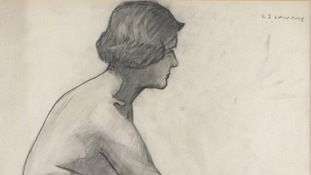 Nude sketch by L.S. Lowry