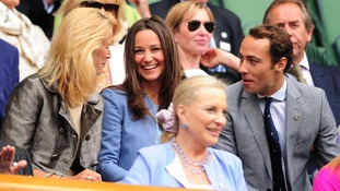 Pippa and James Middleton in the Royal Box at Centre Court