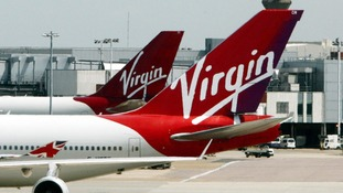 Virgin Atlantic planes at Heathrow Airport