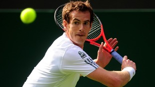 Andy Murray eased to victory in the first round at Wimbledon