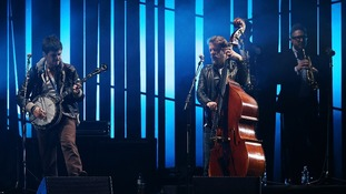 Country Winston and Ted Dwane of Mumford and Sons during the Brit Awards