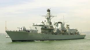 The Royal Navy Type 23 frigate HMS Richmond