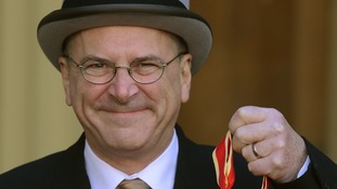 Sir Peter Hendy receiving his knighthood earlier this year