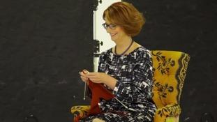 Julia Gillard knitting kangaroo