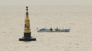 The Islanders team pass Ness Point in Suffolk