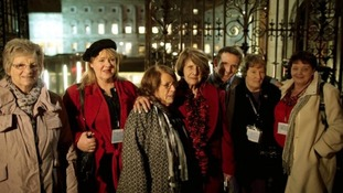 Members of Magdalene Survivors Together in Dublin in February.