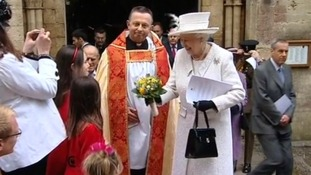 Queen at Llandaff Cathedral