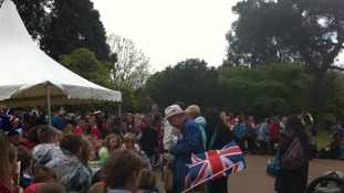 People gathered in Margam Park