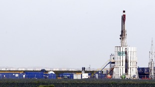 Shale gas rig at Banks, near Southport