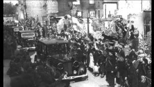 Royal visit to Exeter 1942 b/w