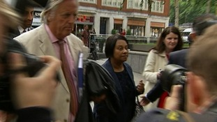 Doreen Lawrence arrives at the Home Office with her lawyer Michael Mansfield QC