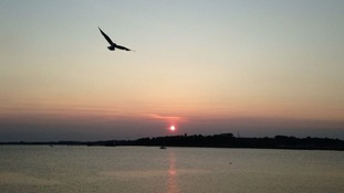 Sunset over Harwich, Essex
