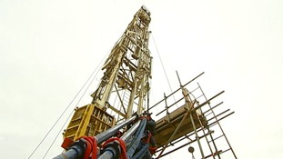 A fracking tower