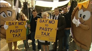 Hundreds of bakers in Downing Street protest