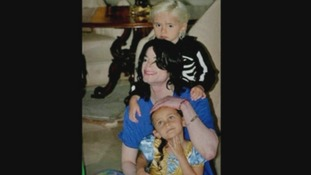 Prince, Michael and Paris Jackson.'Blanket', Paris and Prince Jackson, seen in a private picture from before Jackson's death.
