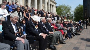 Veterans from the Arctic Convoys were amongst those who received medals at the parade