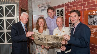 Dan Snow unveils memorial