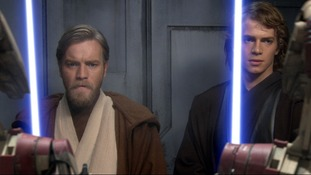 Ewan McGregor and Hayden Christensen in a scene from Star Wars Episode 3 - Revenge of the Sith