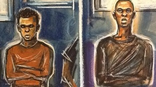 A court sketch of Michael Adebowale and Michael Adebolajo.
