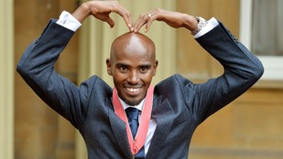 Double Olympic gold medal winning athlete Mo Farah.
