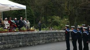 A cadet parade for the Queen
