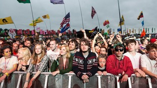 The audience get into the flow at Glastonbury