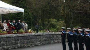 Queen watching cadets performance