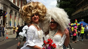 London's LGBT community celebrate during Pride Parade 2013