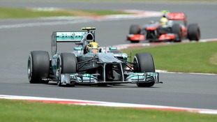 Mercedes driver Lewis Hamilton during qualifying for the British Grand Prix at Silverstone.