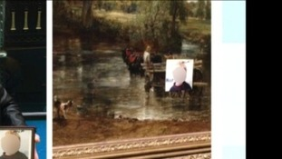 Famous Suffolk painting vandalised