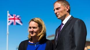 SAS sniper Sergeant Danny Nightingale with wife Sally