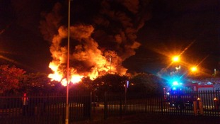 More than 30 fire engines are at the Smethwick fire