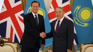 David Cameron held talks with Nursultan Nazarbayev today