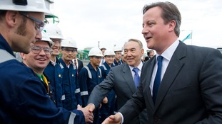 David Cameron also visited an oil plant on his Kazakhstan trip