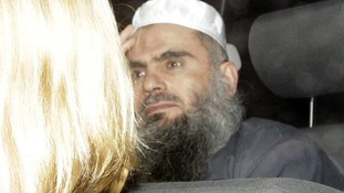 Abu Qatada leaving prison
