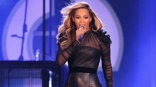 Beyonce pictured performing at the Sound of Change Live Concert in Twickenham last month.