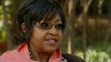 Winnie Mandela was speaking exclusively to ITV News.